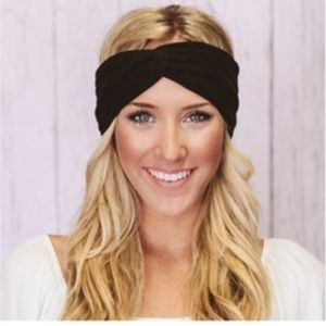 💚 Brand New Twisted Headband Hair Accessory Black